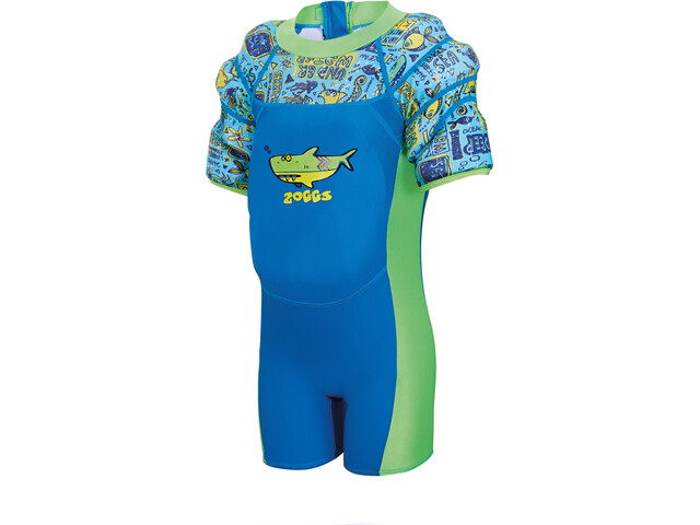 Zoggs Deep Sea Water Wings Floatsuit Kids Blue